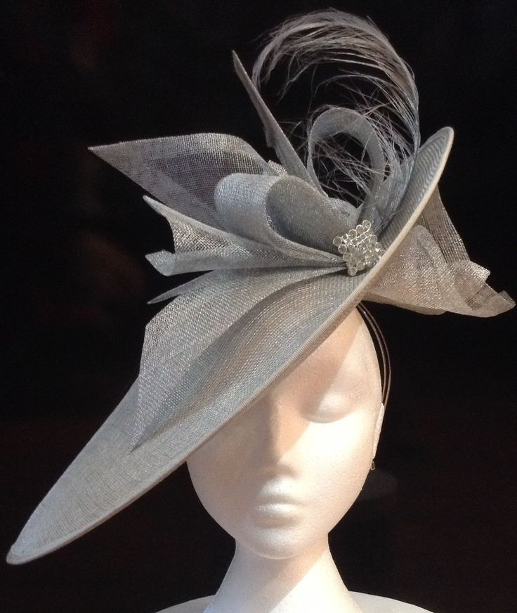 Complete the perfect outfit with this silver Hatinator. Also available in other colours. £159. http://www.hadleighhats.co.uk/detail.asp?id=842