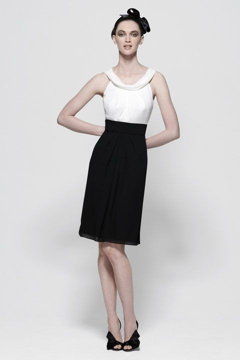 Straps A-line with ruffle embellishment chiffon bridesmaid dress