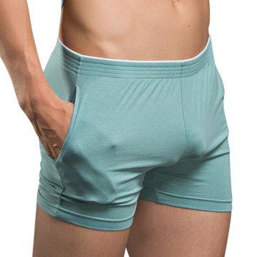 Arrow Pants Casual Sleeping Bodybuilding Solid Color Soft Underwear for Men