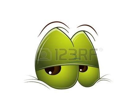 Tired Cartoon Eye photo