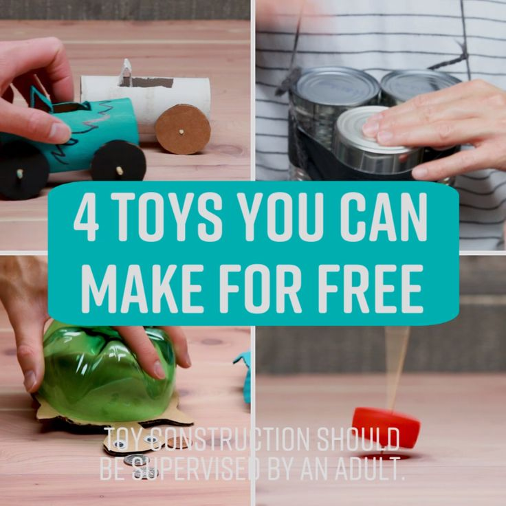 4 Toys You Can Make for Free #kids #parents # #toys #simple