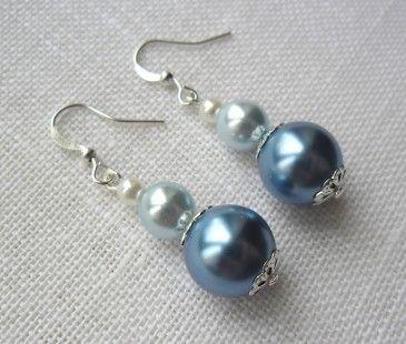 Boucles d'oreille Susan bleues