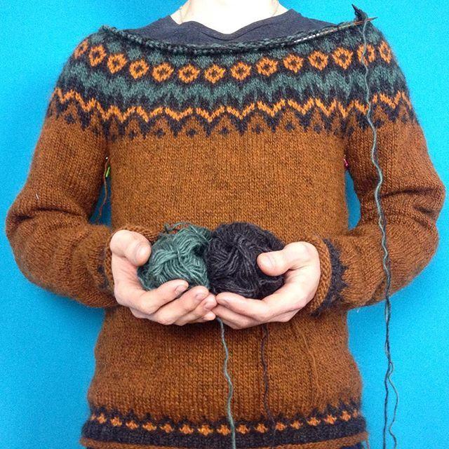 En Riddari växer sakta fram. #léttlopi #lettlopi #riddarisweater #riddari