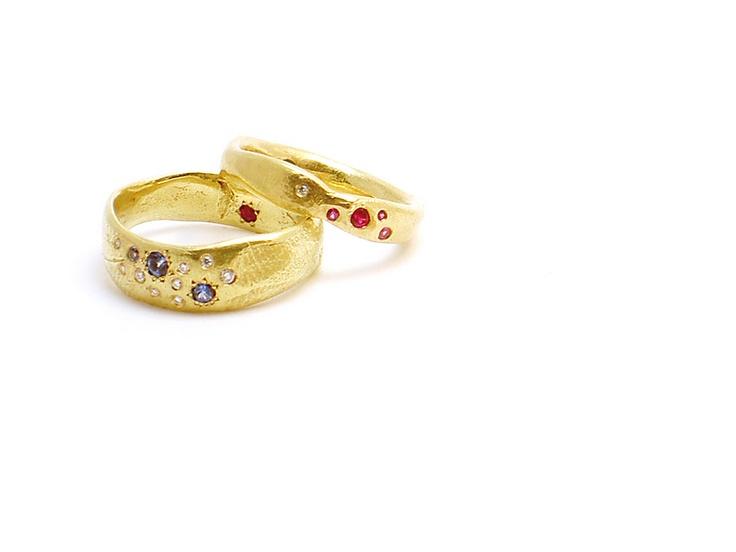 Beautiful rings by Katherine Bowman