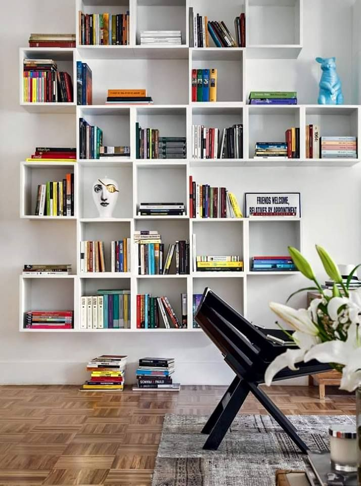 M s de 20 ideas incre bles sobre libreros de pared en for Libreros minimalistas para oficina