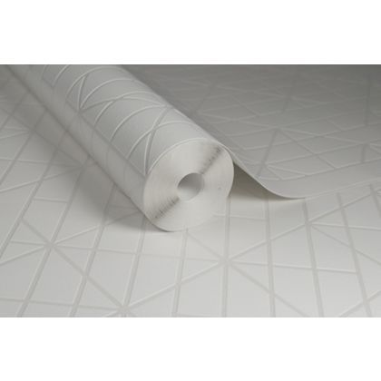 Kelly Hoppen Linear White Wallpaper