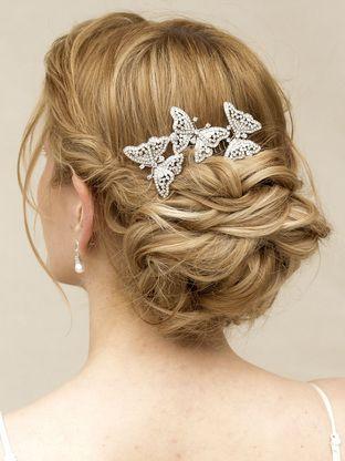 rhinestone butterfly bridal hair comb flutter bridal hair accessories wedding headpieces bridal wedding hair acces wedding hair accessories