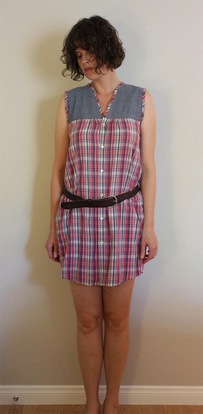 Lula Louise: Refashion – DIY Men's Shirt to Casual Dress  http://blog.lulalouise.com/2012/07/refashion-diy-mens-shirt-to-casual-dress.html#