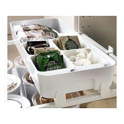 variera box ikea flexible storage that makes it easy to see and reach your groceries and other things in an open drawer
