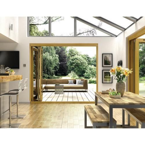 Albery Oak 7ft External Folding Set - Solid Oak Folding Patio Doors - Exterior Folding & Sliding Patio Doors -Doors & Windows - Wickes