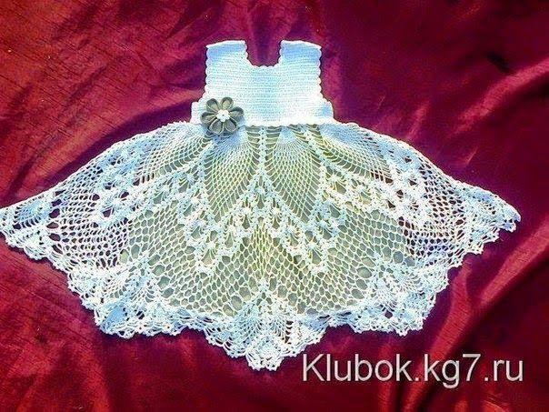 crochelinhasagulhas: Vestido de crochê para menina