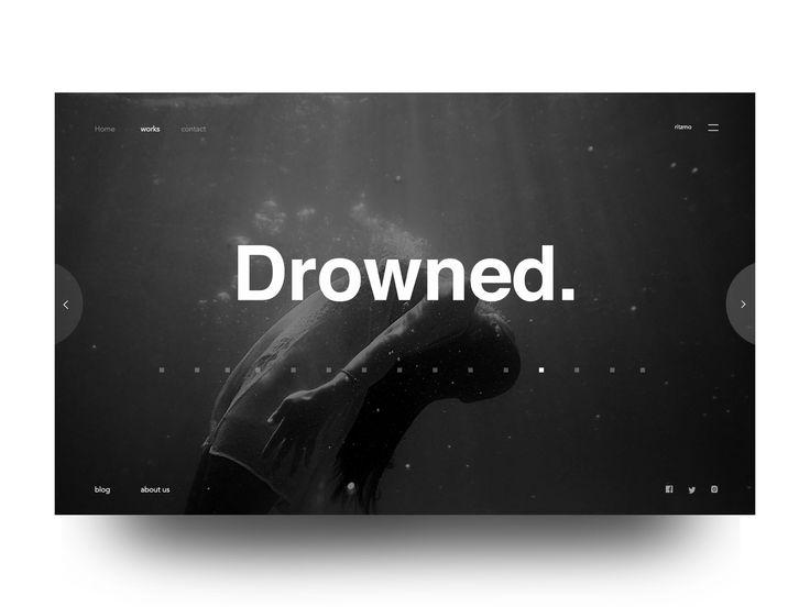 Drowned: Photographer portfolio image slider exploration
