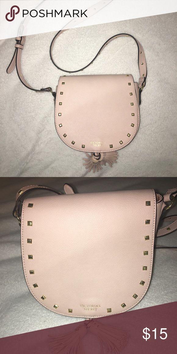 Victoria secret purse Rosey creme color Gold studs Can be worn cross body Victoria's Secret Bags