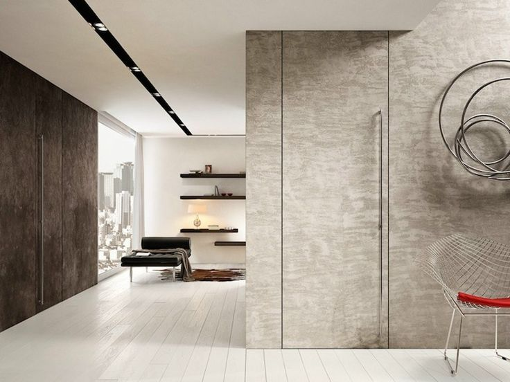 Download the catalogue and request prices of flush-fitting cement pivot door Filomuro | cement door to manufacturer Garofoli
