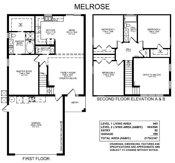 Highland homes melrose versatile 2 story with downstairs for House plans with downstairs master bedroom