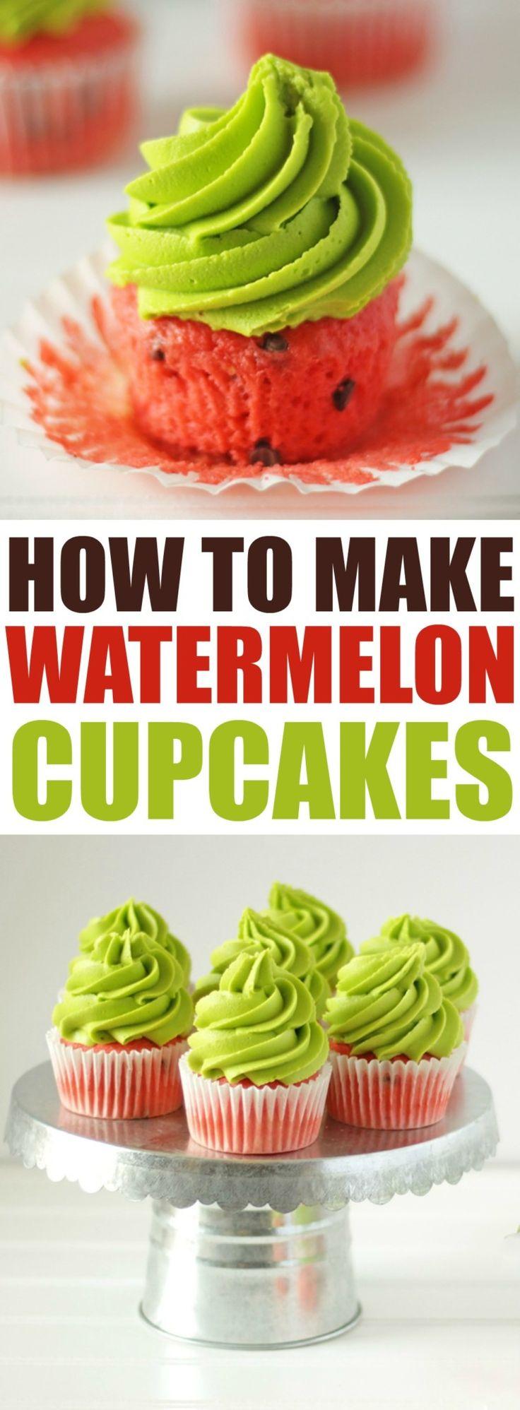 How to Make Watermelon Cupcakes at RoseBakes