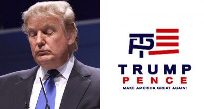 Donald Trump, campaign logo ----(Gage Skidmore - Flickr/screen grab)
