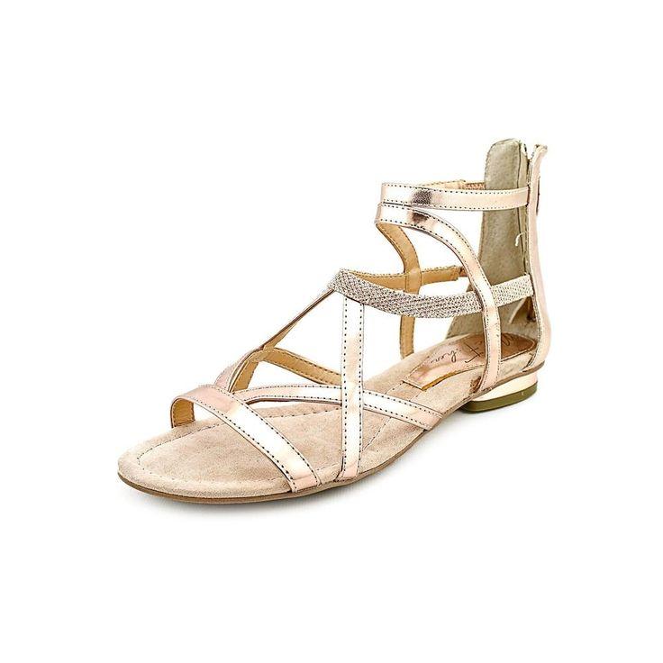 Marc Fisher Bambi 3 Women Open Toe Synthetic Gold Gladiator Sandal
