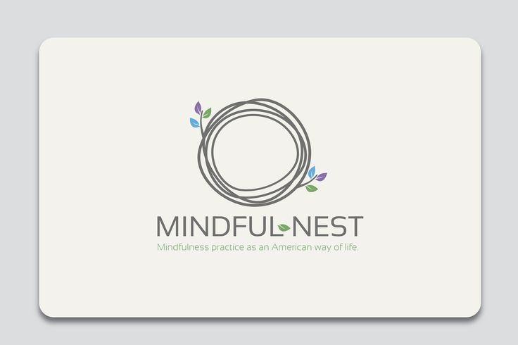 New  logo design for  Mindful-nest  Tag line: Mindfulness practice as an American way of life.  Client  business is a mindfulnes meditation studio in an upscale area of town.  Think more sophisticated, neutral colors, luxury.... Mediation :)