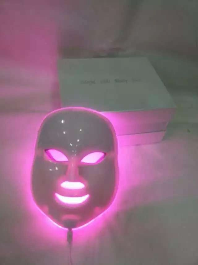Beauty and Health Natural Nutritional Supplements: 7 Color LED Lights LED Photon Facial Mask Skin Rejuvenation Therapy Manual