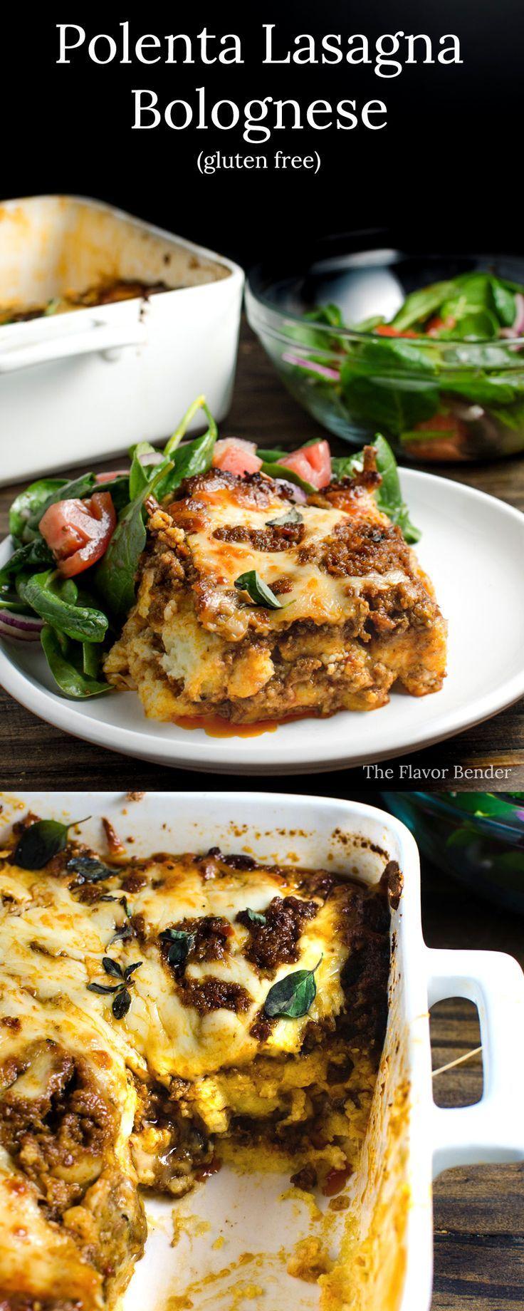 Polenta Lasagna Bolognese -  A twist on the classic lasagna. Delicious and creamy comfort food!