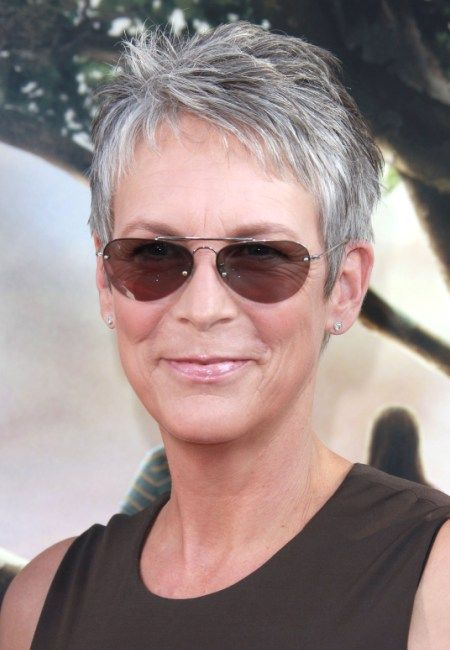 Jamie Lee Curtis -- she is my inspiration for graying gracefully (with a short spiky cut, to boot)