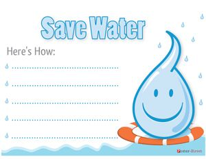 Event Posters - Eco Friends Poster - Save Water PosterAn editable free conservation poster for you to print out and put up on your wall. With space to add info, this poster is great to help strike up a discussion on water conservation.