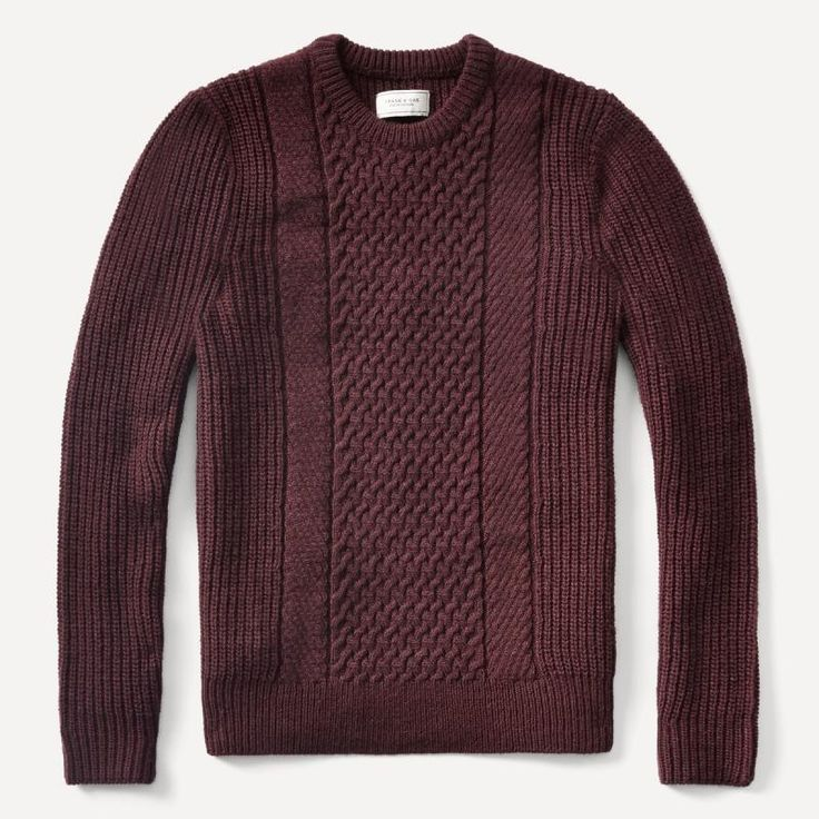 The cable knitting technique features a set of distinct raised patterns, which offers a more durable weave, while at the same time, provides more insulation than your average knit fabric. Get warm, and keep it durable, in this front cable sweater. Feature