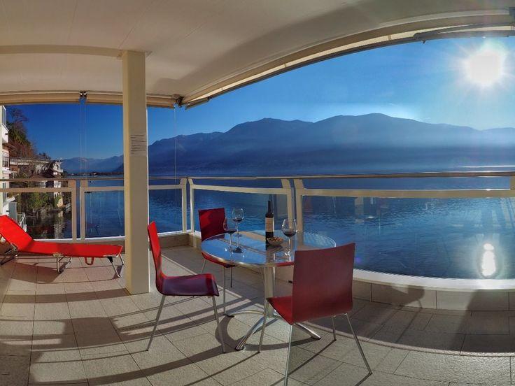 3,5 Zimmer Wohnung mit atemberaubendem Ausblick von #Ferienwohnungen #Locarno