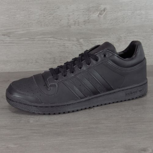 Adidas Top Ten Lo D69291 Core Black Leather Sneakers Size 10