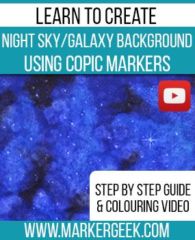 Learn to create a night sky or galaxy background using Copic Markers. Click…
