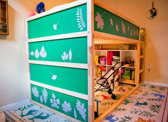 We were considering the Ikea Kura loft toddler bed before this - now I'm completely sold! Such awesome ideas on how to personalize it!
