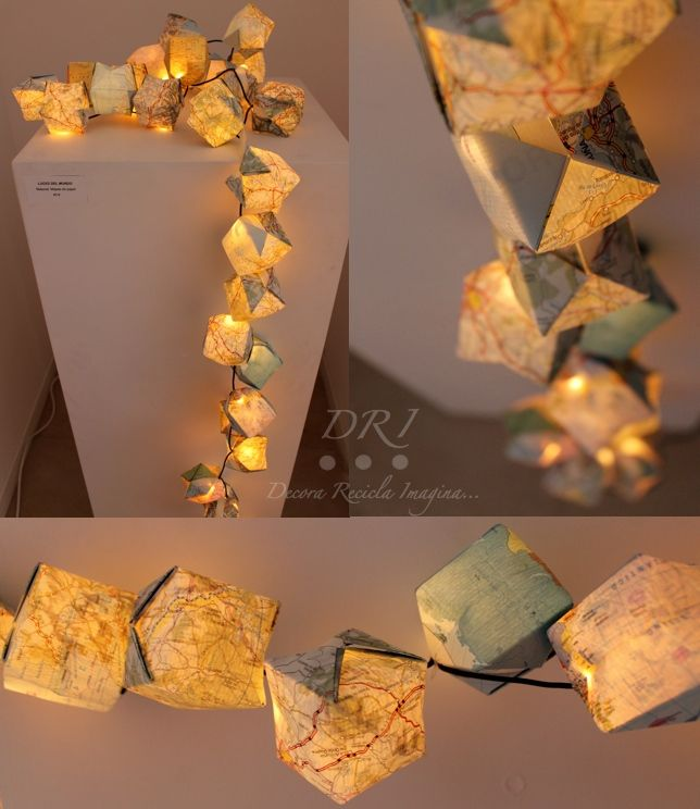 Paper Maps Garland #Upcycling
