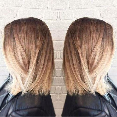 Cheveux lisses, courts, éclaircis aux pointes  #GrCreative #ShortHair #Hair #Hairstyle #Blond #Haircolour