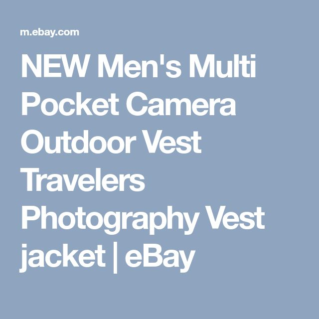 NEW Men's Multi Pocket Camera Outdoor Vest Travelers Photography Vest jacket   eBay