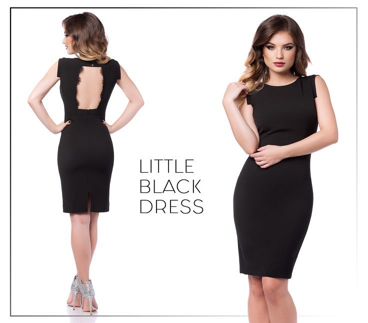 Little black dress with backless design, perfect for a wide range of events!