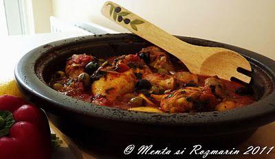 Moroccan chicken tagine ~ Bucatar maniac si prietenii
