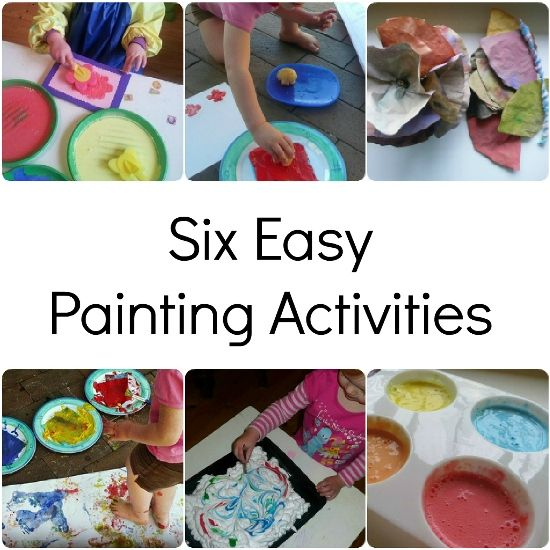 Six Easy Painting Activities | Octavia and Vicky
