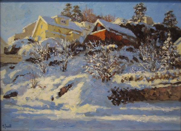 Tore Juell (1942-): Sol på sne - Smedsbukta