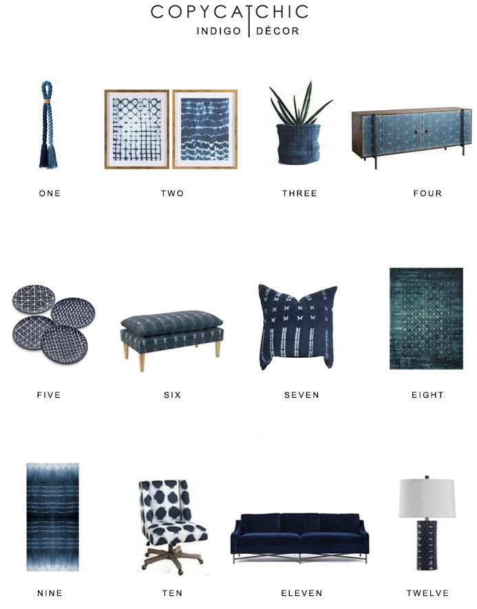 Our favorite popular indigo blue decor by Copy Cat Chic luxe living for less budget home decor | Indigo blue home trends, accessories and furnishings http://www.copycatchic.com/2016/12/home-trends-indigo-decor.html?utm_campaign=coschedule&utm_source=pinterest&utm_medium=Copy%20Cat%20Chic&utm_content=Indigo%20D%C3%A9cor%20Round%20Up