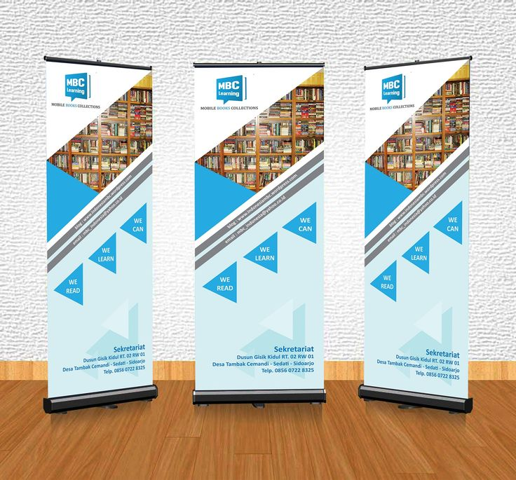 "Design Roll Banner Mockup ""MBC Learning - Mobile Books Collection"""
