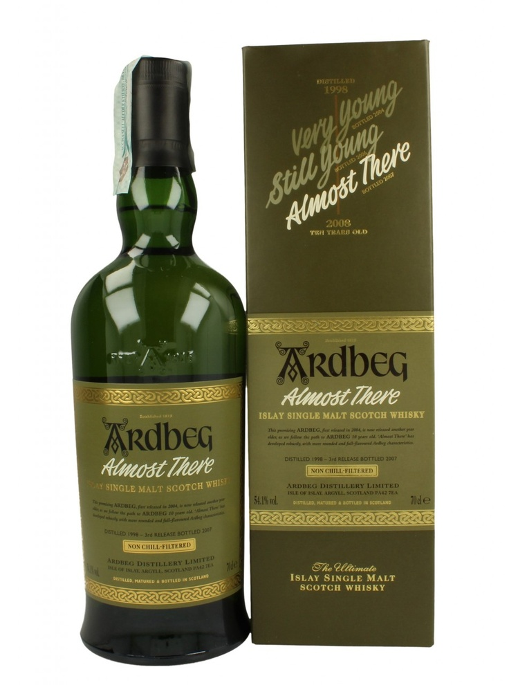 ARDBEG ALMOST THERE 10YO 1998 2008 70CL 54,1% - ISLAY WHISKY - SCOTCH WHISKY - Whisky Antique, Whisky & Spirits - Products