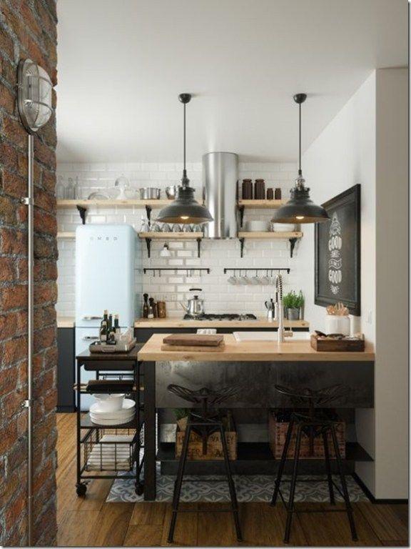 Adoptez Les Clés De La Décoration Industrielle Bienvenue à Mine Cuisine Home Decor Cottage Kitchens Bat Kitchen