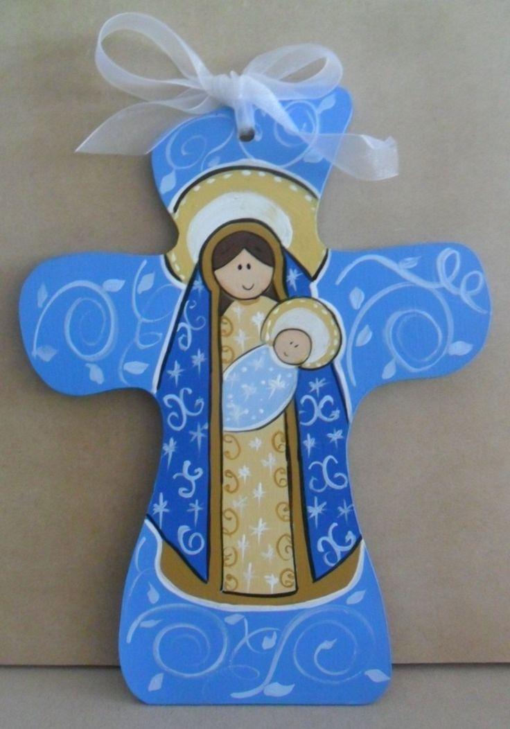 cruces de madera pintadas a mano para niños - Buscar con Google