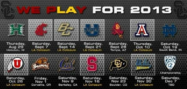 2013 USC Trojans football schedule