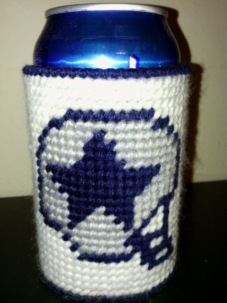 Koozie Dallas Cowboys Plastic Canva Can Holder Plastic