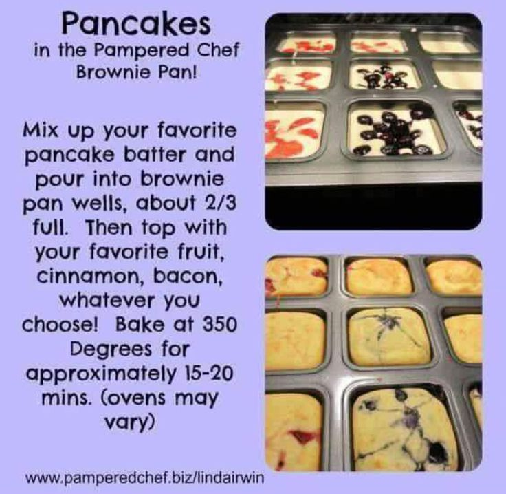 Pampered Chef brownie pan pancake recipe www.pamperedchef.biz/beckybough