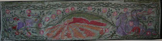 Hand Painted Art Batik Silk Scarf Sleeping Beauty by SkyFenSilk, £80.00