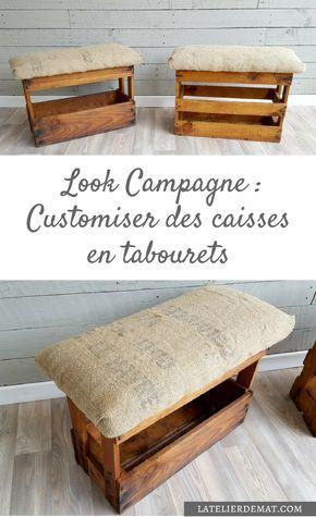 Customiser des caisses à vins en tabourets au look Campagne