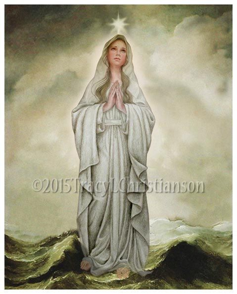 Our Lady, Star of the Sea, Stella Maris Blessed Virgin Mary Catholic Art Print #4192